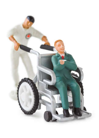 Toy wheelchair isolated on white background Stock Photo - 8403766