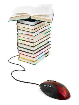 Computermaus und B�cher - e-Learning-Konzept
