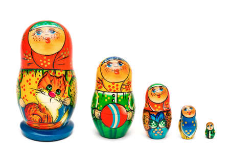 Russian toy matrioska isolated on white background Stock Photo - 8612264
