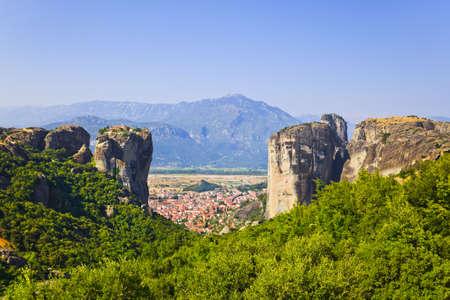 meteora: Meteora monastery in Greece - travel background Stock Photo