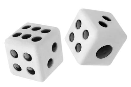 Gambling dices isolated on white background Stock Photo - 8708843