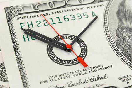 процветание: Время - деньги фон бизнес-концепции Фото со стока