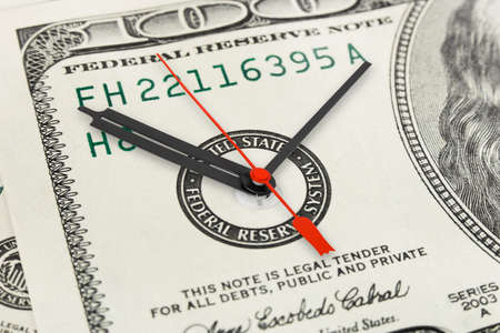 money and time: Time is money - business concept background Stock Photo