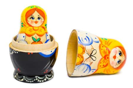 Russian toy matrioska isolated on white background Stock Photo - 8805010