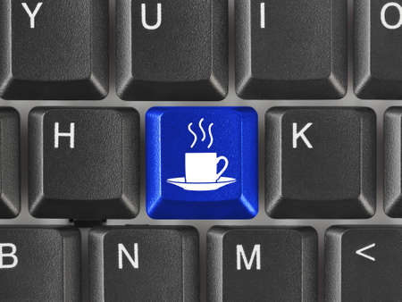 Computer keyboard with coffee key - business concept Stock Photo - 8805133