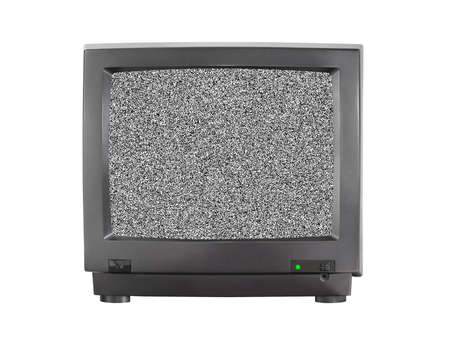 TV with blank screen isolated on white background photo