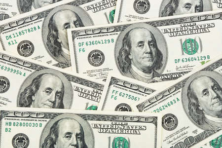Dollars background - abstract business money texture photo