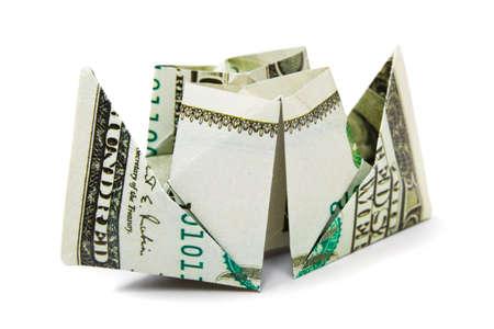 Ship made of money isolated on white background Stock Photo - 8805178