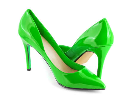 Green shoes isolated on white background Stock Photo - 8908872