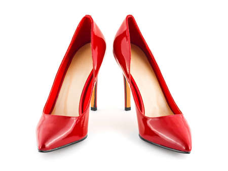 Red shoes isolated on white background Stock Photo - 9061016