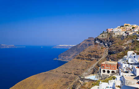 fira: Santorini View (Fira) - vacation background