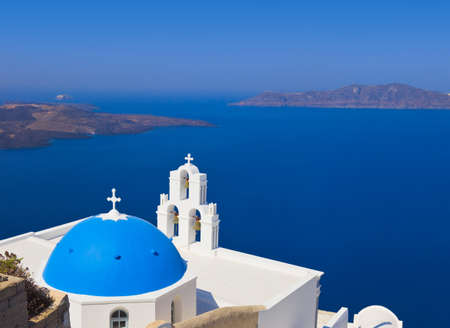 Santorini church (Firostefani) - vacation background photo