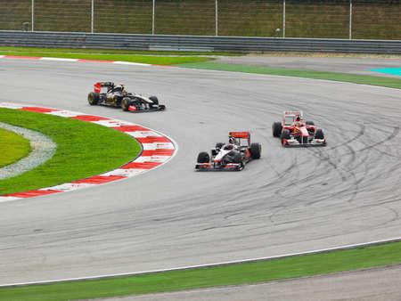 Race of Formula 1, GP Malaysia, Sepang, April 10 2011 Stock Photo - 9338341