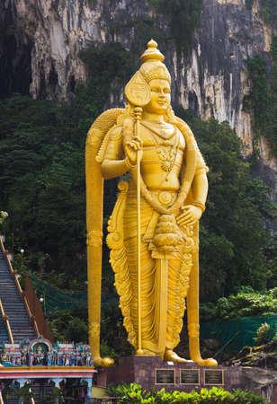 Statue of hindu god Muragan at Batu caves, Kuala-Lumpur, Malaysia photo