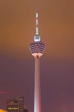 Menara tv tower at Kuala Lumpur (Malaysia) - architecture background