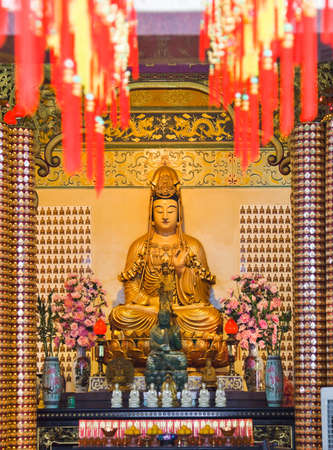 Statue in Thean Hou Temple at Kuala Lumpur Malaysia photo