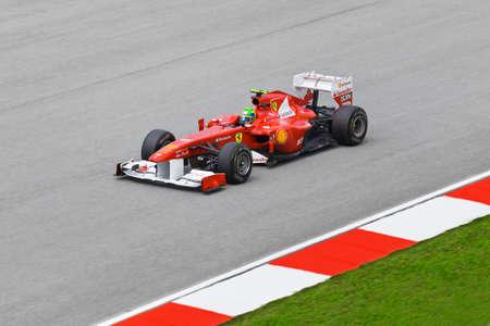SEPANG, MALAYSIA - APRIL 8: Felipe Massa (Team Scuderia Ferrari Marlboro) am ersten Training auf Formel 1 GP, 8 April 2011, Sepang, Malaysia Editorial