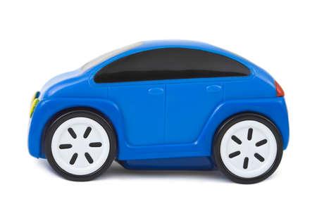 voiture parking: Voiture de jouet isol�e sur fond blanc