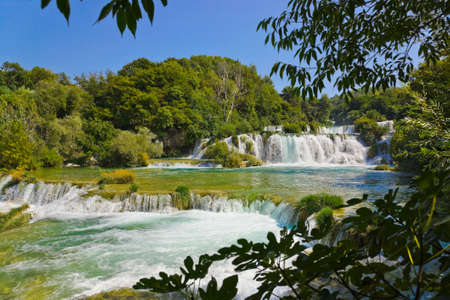 plitvice: Waterfall KRKA in Croatia - nature travel background