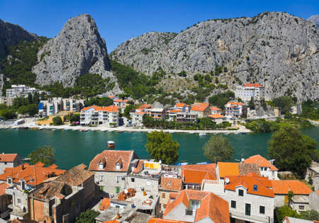Town Omis in Croatia - travel background Stock Photo - 9450230