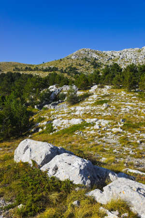 Mountains view at Biokovo, Croatia - nature background photo
