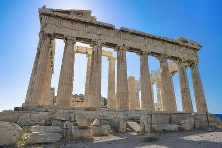 Parthenon temple in Acropolis at Athens, Greece - travel background photo
