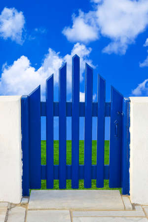 Door to field and sky  - nature background photo