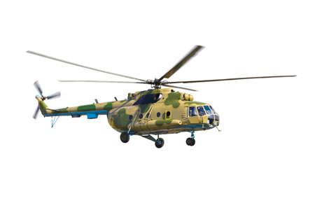 estrellas  de militares: Helic�ptero militar aislado en un fondo blanco