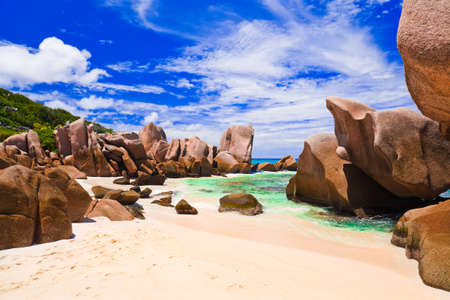 waterpool: Tropical beach at Seychelles - nature background
