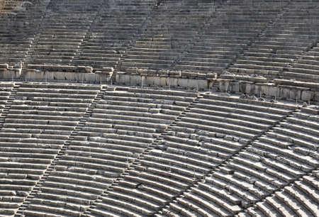 Ruins of Epidaurus amphitheater, Greece - archaeology background Stock Photo - 9640763