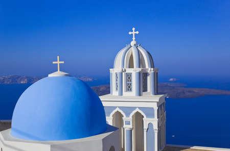 Santorini church (Firostefani) - vacation background photo