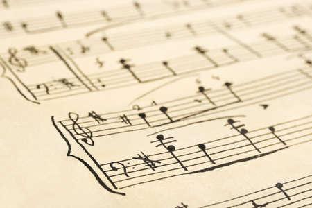 Retro handwritten music sheet - abstract art background photo
