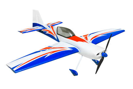RC plane isolated on white background photo