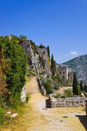 Old fort in Klis, Croatia - architecture background photo