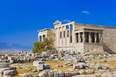 Erechtheum temple in Acropolis at Athens, Greece - travel background photo