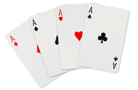 Playing cards - isolated on white background photo