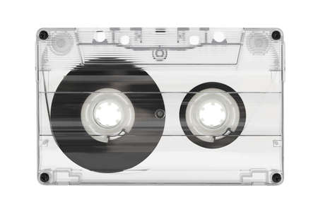 Audio cassette isolated on white background Stock Photo - 9771996