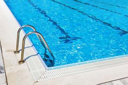 swiming: Waterpool - sport background Stock Photo