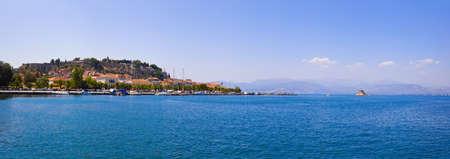 Panorama of Nafplion, Greece - travel background Stock Photo