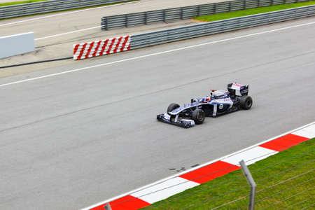 gp: SEPANG, MALAYSIA - APRIL 8: Rubens Barrichello (team Williams) at first practice on Formula 1 GP, April 8 2011, Sepang, Malaysia Editorial