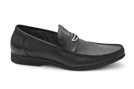 Black shoe isolated on white background photo