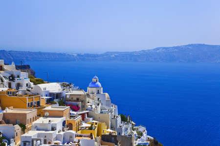 thira: Santorini View (Thira) - vacation background