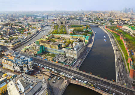 Moscow (Russia) center - aerial view photo