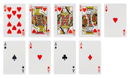 jeu de cartes: Jeu de cartes - isol� sur fond blanc