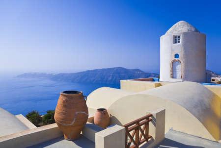 greek pot: Santorini View (Imerovigli) - sfondo vacanza