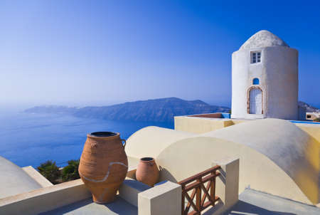 Santorini View (Imerovigli) - vacation background Stock Photo - 9856245