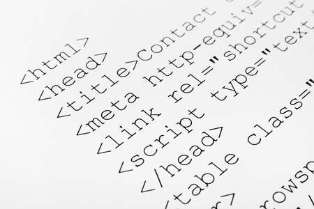 Printed internet html code - computer technology background