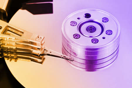 Computer hard disk - technology background photo