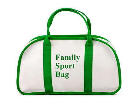 Family sport bag isolated on white background photo