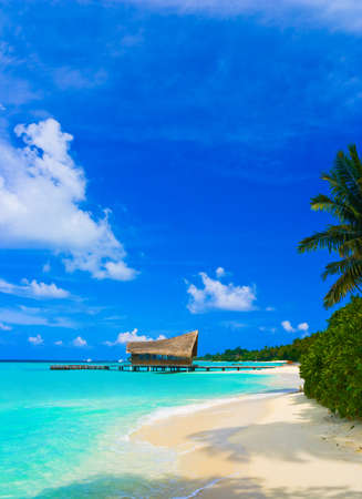 tropical island: Diving club on a tropical island - travel background